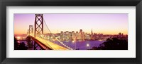 Framed San Francisco Skyline with Golden Gate Bridge