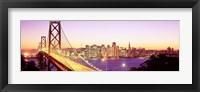Framed San Francisco Skyline with Golden Gate Bridge