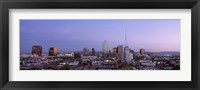 Framed Aerial View Of The City At Dusk, Phoenix, Arizona, USA