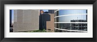 Framed Skyscraper windows in Houston, TX