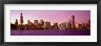 Framed Skyline At Sunset, Chicago, Illinois, USA