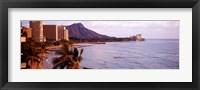 Framed Waikiki Beach, Oahu, Hawaii