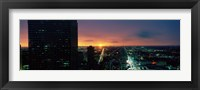 Framed Night view of Houston, Texas