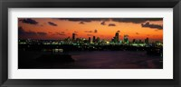 Framed Miami at night, Florida