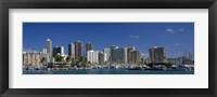 Framed Honolulu, Hawaii Skyline