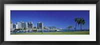 Framed Honolulu, Hawaii Waterfront