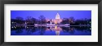 Framed Christmas, US Capitol, Washington DC, District Of Columbia, USA