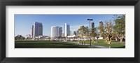 Framed USA, California, San Diego, Marina Park