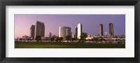 Framed Marina Park And Skyline At Dusk, San Diego, California, USA