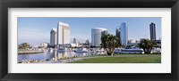 Framed Panoramic View Of Marina Park And City Skyline, San Diego, California, USA