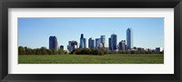 Framed Dallas on a clear day,TX