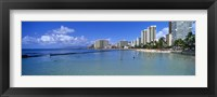 Framed Waikiki Beach Honolulu Oahu HI