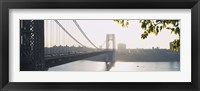 Framed George Washington Bridge in black and white, New York City