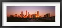 Framed Sun reflecting off skyscrapers in Atlanta, Georgia, USA