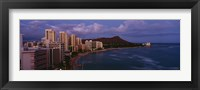 Framed High Angle View Of Buildings On The Beach, Waikiki Beach, Oahu, Honolulu, Hawaii, USA