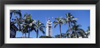 Framed Low angle view of a tower, Aloha Tower, Oahu, Honolulu, Hawaii, USA
