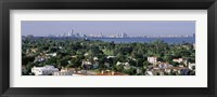 Framed High Angle View Of The City, Miami, Florida, USA