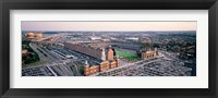 Framed Aerial view of a baseball field, Baltimore, Maryland, USA