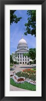 Framed USA, Wisconsin, Madison, State Capital Building