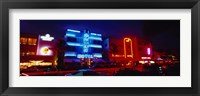 Framed Low Angle View Of A Hotel Lit Up At Night, Miami, Florida, USA