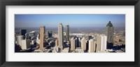 Framed Aerial view of Atlanta, Georgia