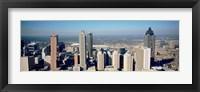 Framed Aerial view of Atlanta skyscrapers, Georgia