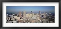 Framed High angle view of downtown Atlanta, Georgia, USA