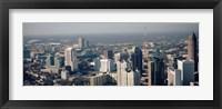 Framed High angle view of Atlanta, Georgia, USA