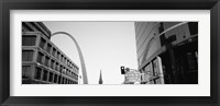 Framed Low Angle View Of Buildings, St. Louis, Missouri, USA