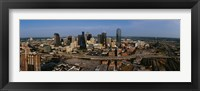 Framed Aerial view of a city, Dallas, Texas, USA