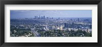 Framed Aerial view of a city, Los Angeles, California, USA