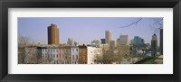 Framed High angle view of buildings in a city, Inner Harbor, Baltimore, Maryland, USA