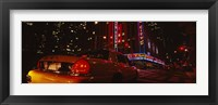 Framed Car on a road, Radio City Music Hall, Rockefeller Center, Manhattan, New York City, New York State, USA