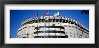 Framed Flags in front of a stadium, Yankee Stadium, New York City