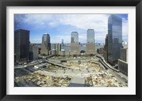 Framed High angle view of buildings in a city, World Trade Center site, New York City, New York State, USA, 2006