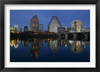 Framed Night view of Town Lake, Austin, Texas