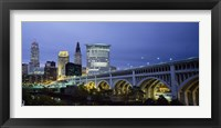 Framed Detroit Avenue Bridge at Dusk