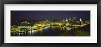 Framed Pittsburgh, Pennsylvania Skyline