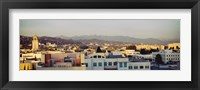 Framed High angle view of a cityscape, San Gabriel Mountains, Hollywood Hills, Hollywood, City of Los Angeles, California