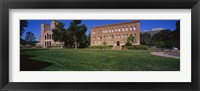 Framed Lawn in front of a Royce Hall and Haines Hall, University of California, City of Los Angeles, California, USA