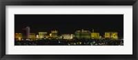 Framed Las Vegas, Nevada at night