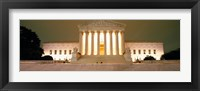 Framed Supreme Court Building illuminated at night, Washington DC, USA