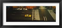 Framed High angle view of cars at a zebra crossing, Times Square, Manhattan, New York City, New York State, USA