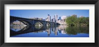 Framed Arch bridge across a river, Minneapolis, Hennepin County, Minnesota, USA