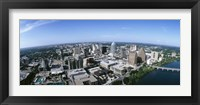 Framed Aerial view of a city, Austin,Texas