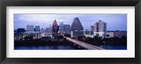 Framed Bridge across a lake, Town Lake, Colorado River, Austin, Texas, USA