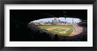 Framed High angle view of a baseball stadium, Wrigley Field, Chicago, Illinois, USA