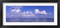 Framed Clouds over the sea, Tampa Bay, Gulf Of Mexico, Anna Maria Island, Manatee County, Florida
