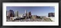 Framed Skyscrapers in a city, Phoenix, Maricopa County, Arizona, USA
