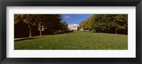 Framed Lawn in front of a building, Bascom Hall, Bascom Hill, University of Wisconsin, Madison, Dane County, Wisconsin, USA